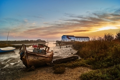 abandoned by the shore