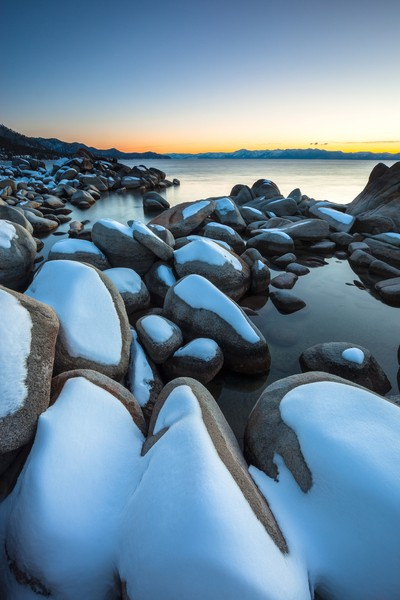 Tahoe Boulders at Sunset 6