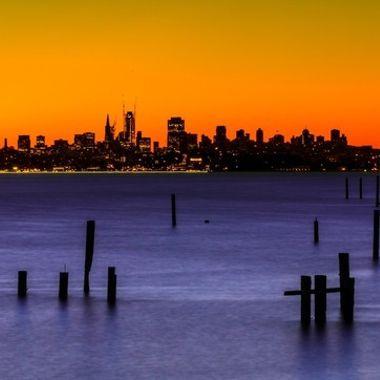 Dawn in San Francisco