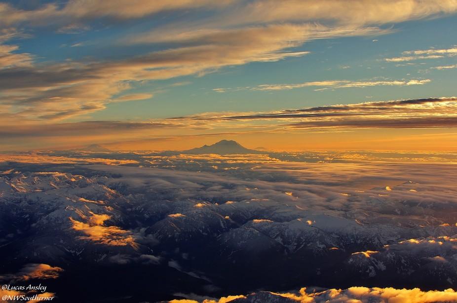 Evening above Washington's Cascade Mountains