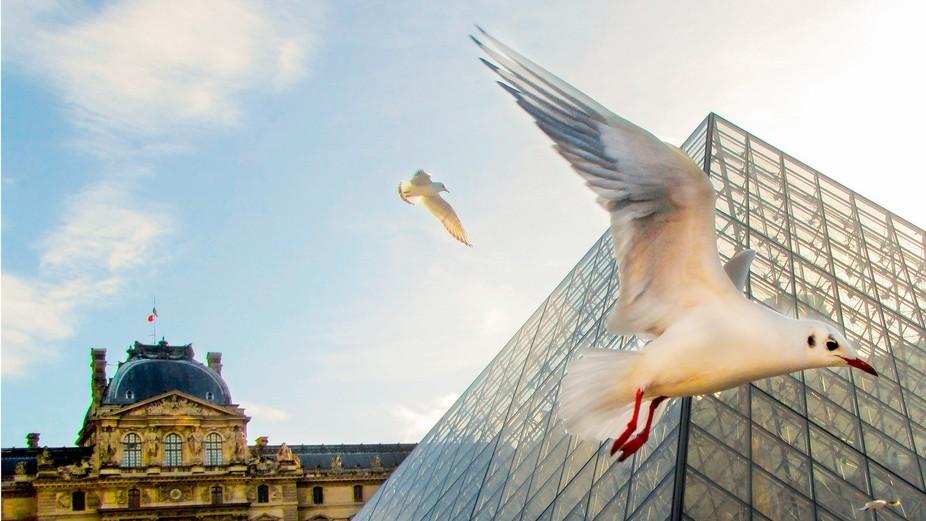 At Louvre - Paris