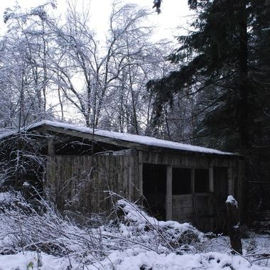 Dec 12, 2016 - Old Snowy Horse Stalls in snow ... off Allsbrook road, Parksville, B.C. on Vancouver Island