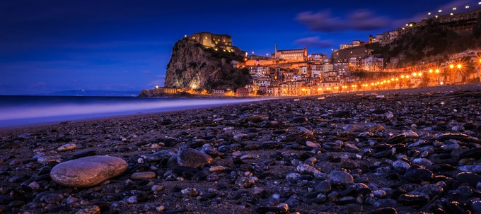 The castle of Scilla - Italy by Kobra79 - Color In The Night Photo Contest