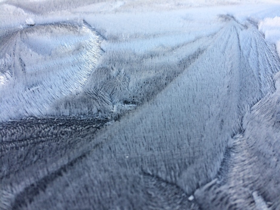 This could be a landscape or the some sort of material but it's actually frost on the ro...