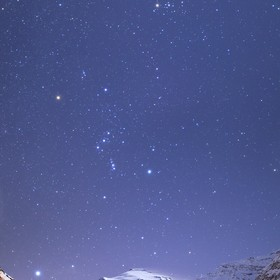 Winter constellations over Pointe de Charbonnel (Vanoise - France)