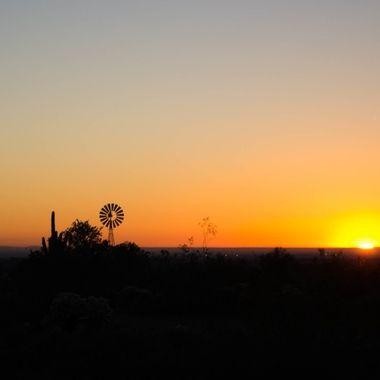 Windmill Sunrise at White Tank Park, AZ
