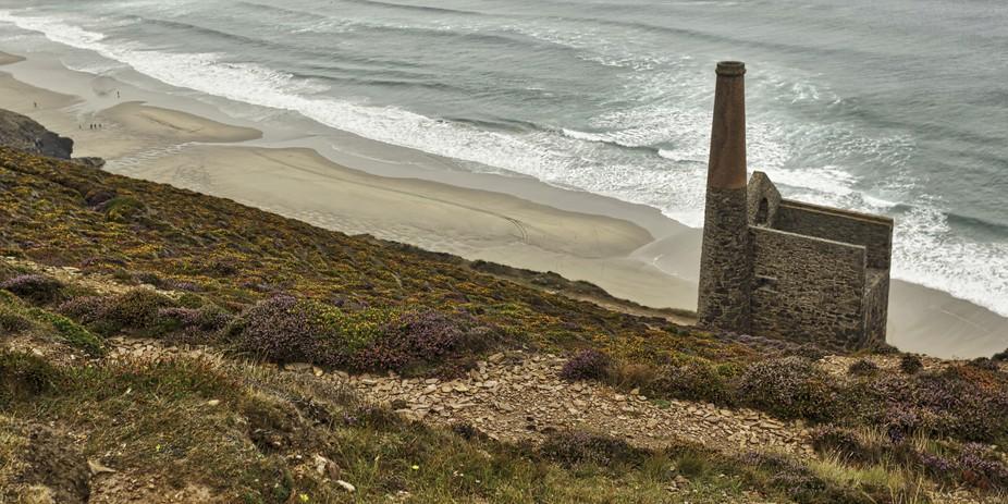 Ruins of the Wheal Coates tin mine near St Agnes in Cornwall