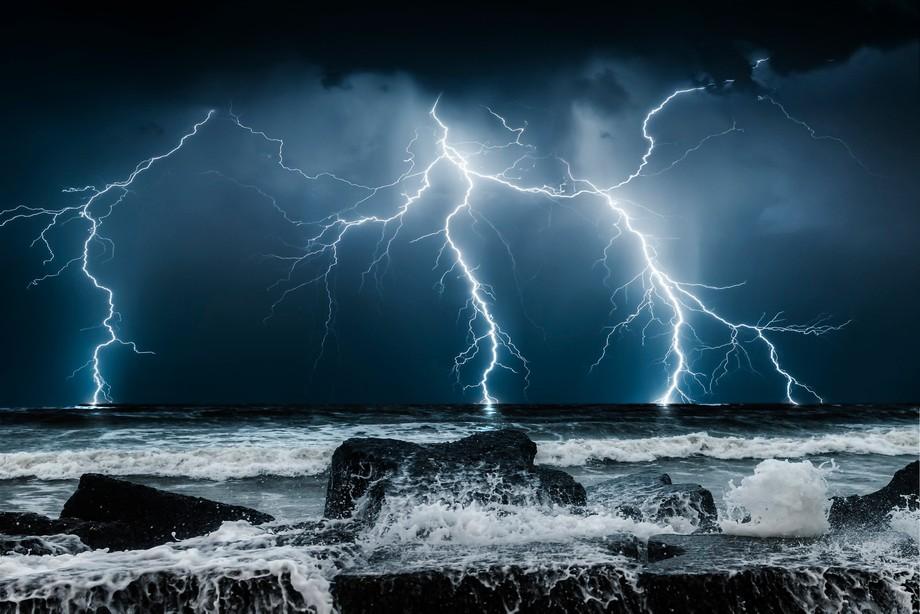 Thunderstorm on the Black Sea