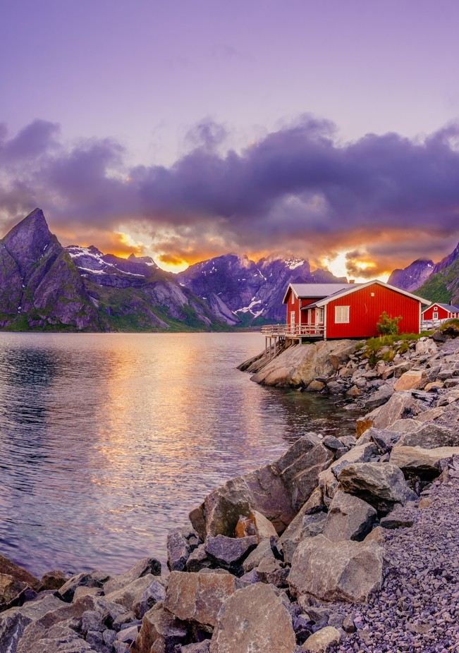 Red hut in a midnight sun by dmytrokorol - Image Of The Month Photo Contest Vol 18