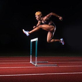 Deborah John is a track and field athlete from Trinidad and Tobago. This was shot in Dallas.  I go between the finished photo with the effects an...