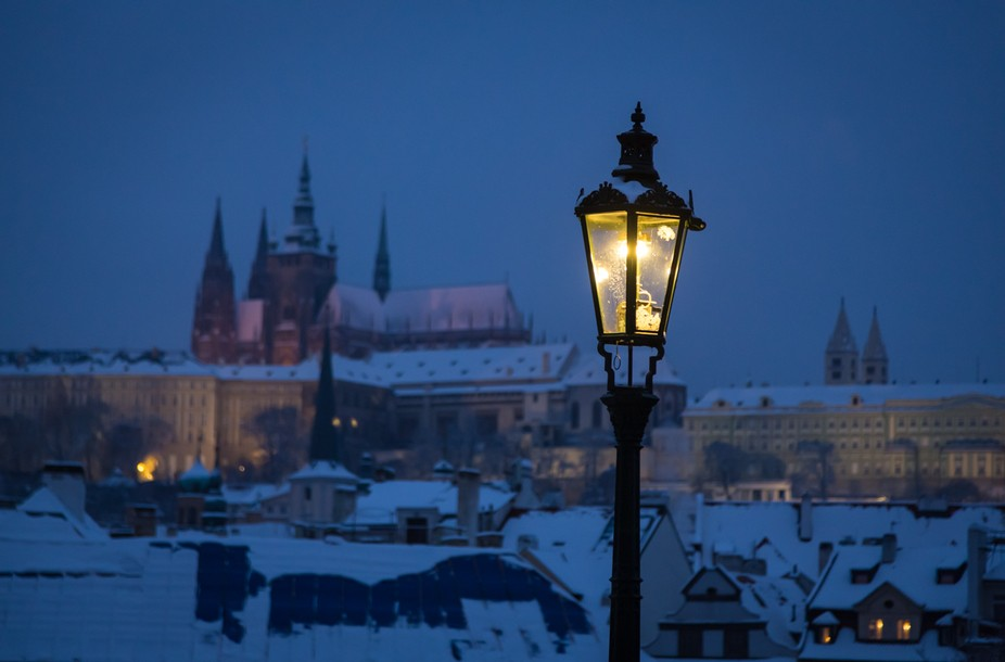 Night on Karluv most in Prague