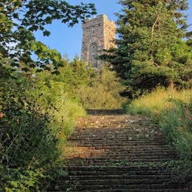 When we were travelling in Bulgaria with family, we stopped at Mount Shipka and climbed about 1000 steps to get to the Freedom Monument. This is one of the photos that I took during the climb.