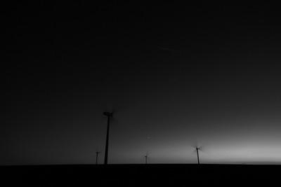 wind farm with venus in mono