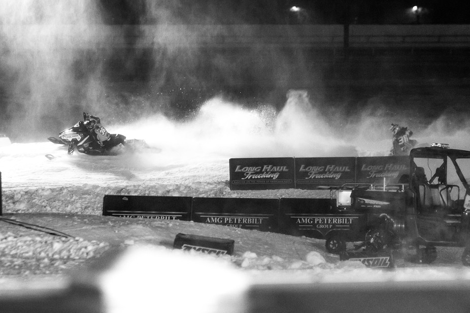 Corin Todd a professional snocross racer was setting the pace in Minnesota this past weekend.