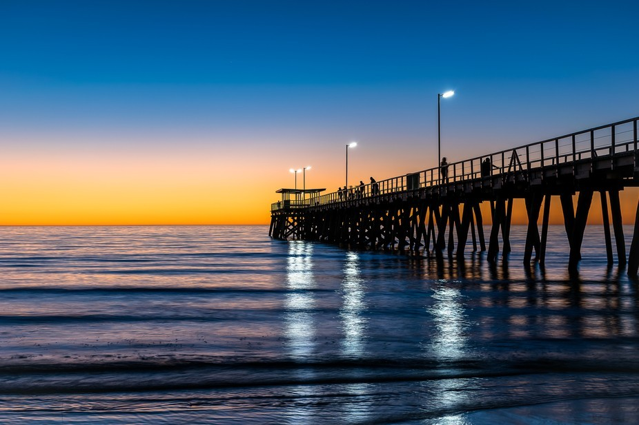 This photo was taken at Largs Pier, Largs Bay, Adelaide, South Australia. The colours were beauti...