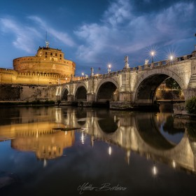 The beautiful Sant'Angelo castle and the relative bridge at twilight. This is a blend of 3 different exposure needed to properly expose the ...