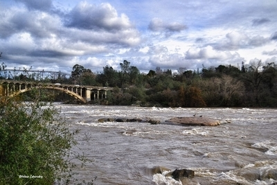 The American River...