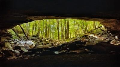 Big Laurel Falls Cave