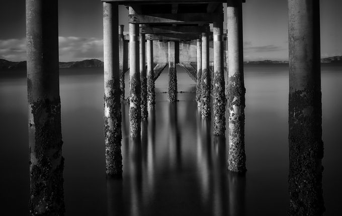 Black pier 2 by johankoch - The View Under The Pier Photo Contest