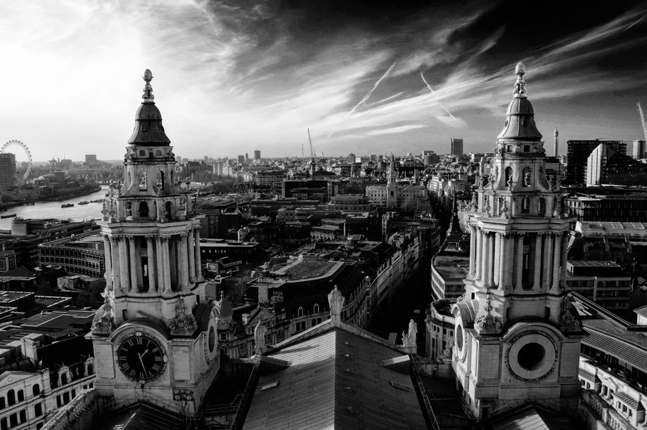 Dome of St. Paul's catherdal in London (UK)