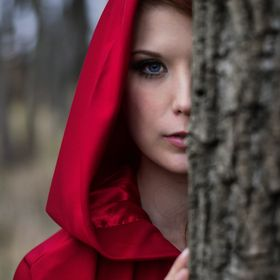 Red Riding Hood themed fairytale photoshoot. Was going for a slightly more darker moody feel with this shoot.