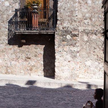 Street kid selling trinkets in San Miguel De Allende,Mexico
