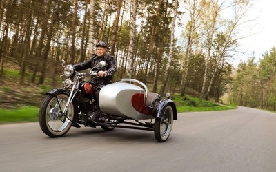 Poland proudly present Sokol motorcycle.