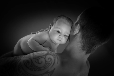 Calm in his Father's arms
