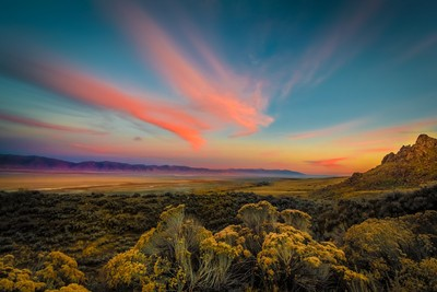 Reflections of a Sunset Unseen (Antelope Island)