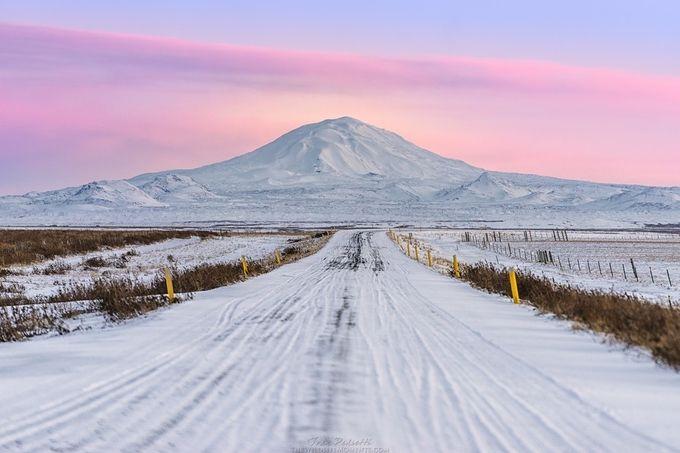Iceland sunrise by wildlifemoments - Winter Roads Photo Contest