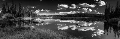 Rainbow Lake, Pano B&W - Brainar Lake Hike, 8.2016- (IMG_9928-Pano)