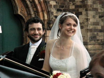Smiles (outside wedding)
