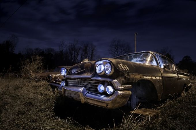 Ghost of Chevy's Past by jamesnelms - Our World At Night Photo Contest