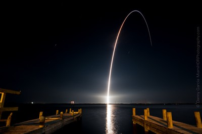 Rocket Launch from Cape Canaveral Florida at Night