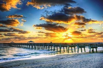 Sunrise at Juno Beach Pier Florida