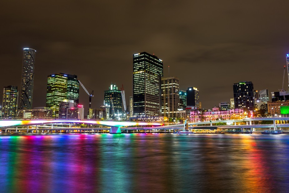 Brisbane City Night Lights