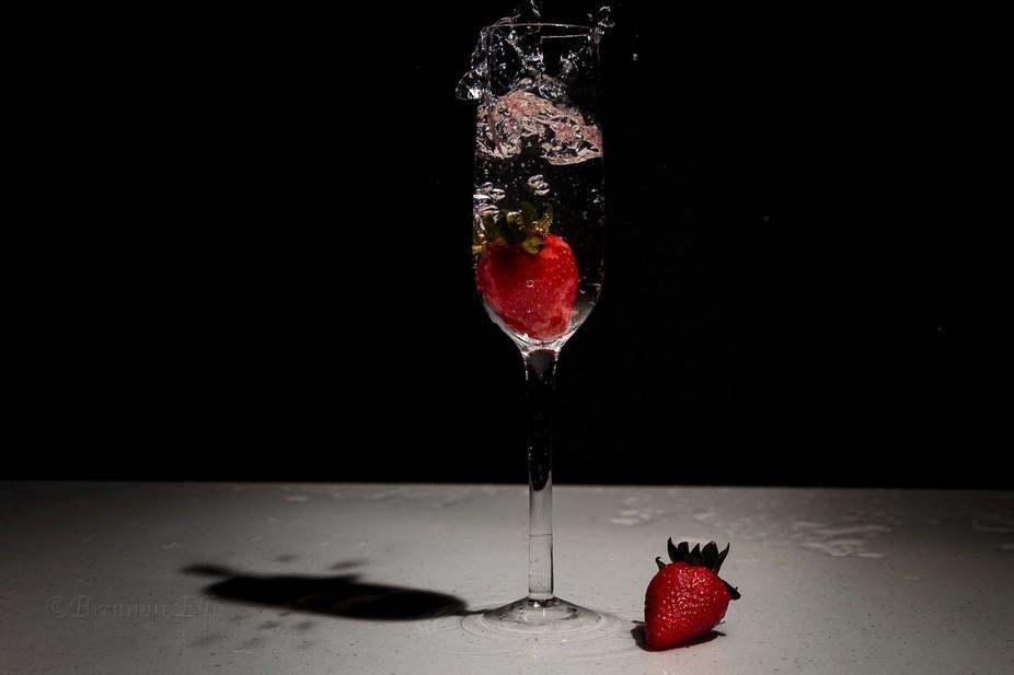 Wine glass strawberries