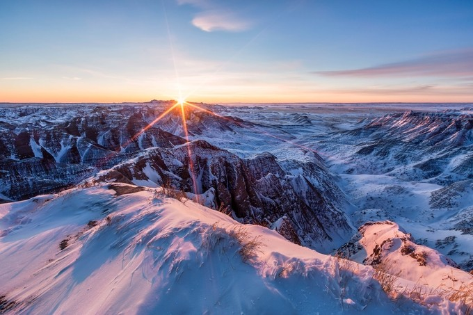BADLANDS SUNRISE by bpidala - Rule Of Thirds Photo Contest v3