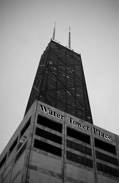 """Water tower, Hancock."""