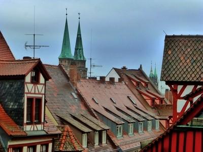 Blick über die Dächer von Nürnberg