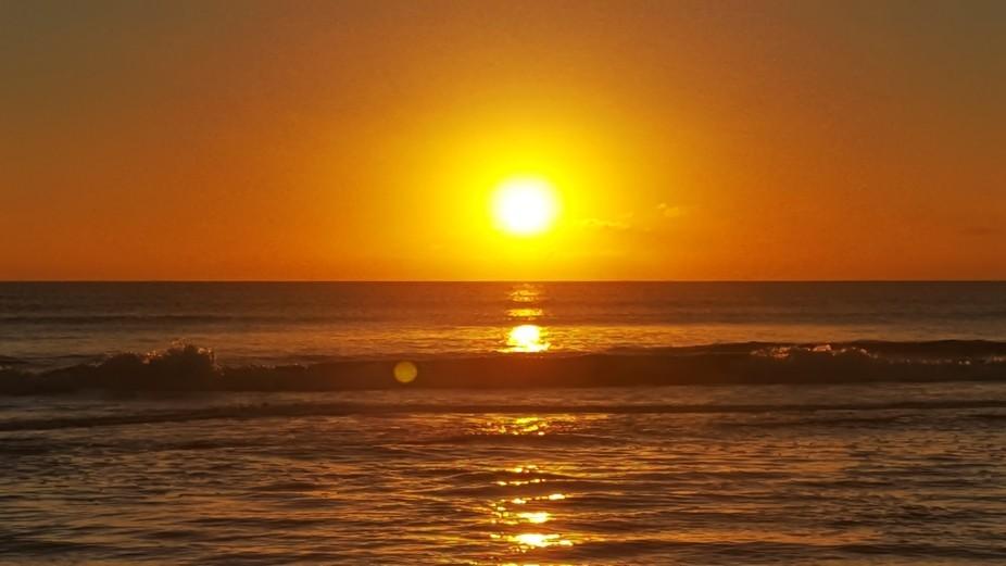 morning sunrise over the ocean at coa coa beach florida