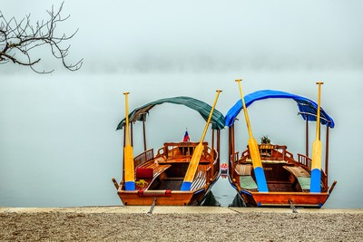 Two boats on Bled