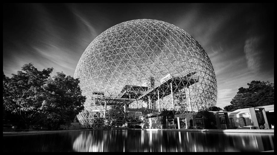 Long exposure of a popular landmark in Montreal.