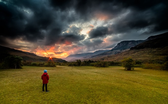 Waiting for the storm to pass by Darrenp - Children In Nature Photo Contest