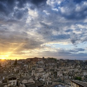 Matera at sunset