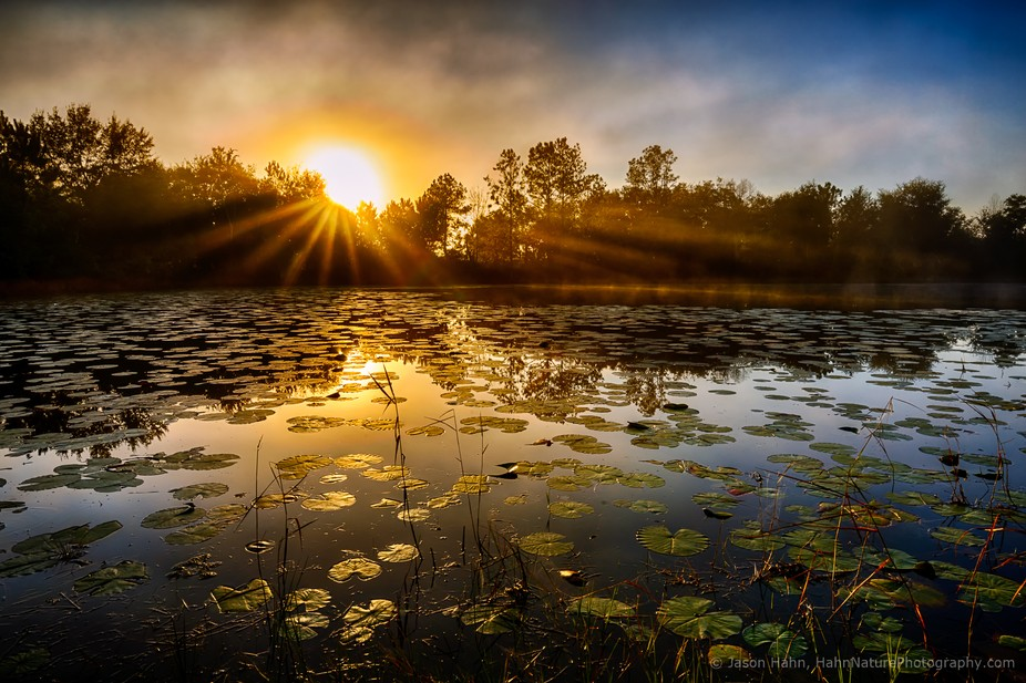 This is the color version of this image.  I first saw this lake a few months ago during my son&am...