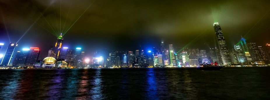 Taken on Victoria Harbour HongKong, very excited to be there and it is so adventurous