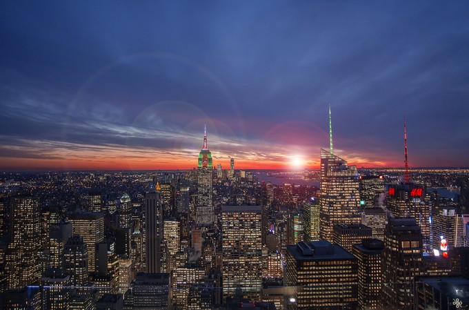 Christmas Sky by keeley15lf - New York Photo Contest