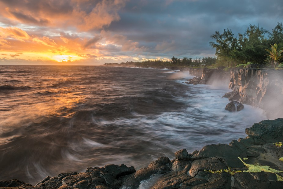 This shot was taken on the Big Island of Hawaii. The area was completely silent except the sounds...