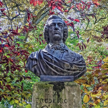 """Statue of Frederic Chopin, Luxembourg Gardens, Paris - The """"France"""" Collection"""